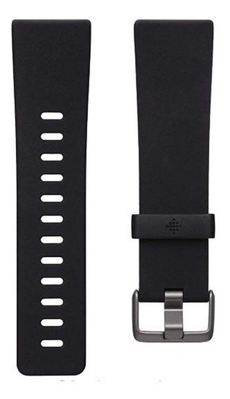 Malla De Silicona Para Fitbit Versa 2 - Talle S - Negro