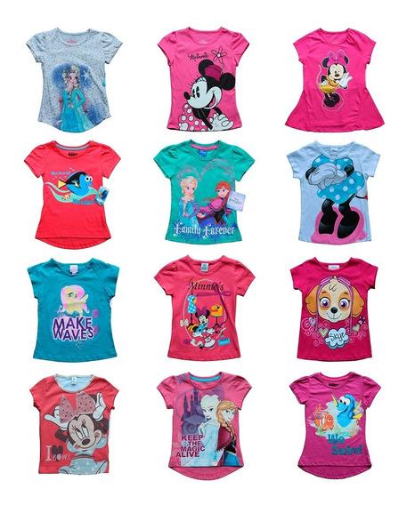 Lote 20 Playeras Niña Disney Princesas Peppa Envio Gratis