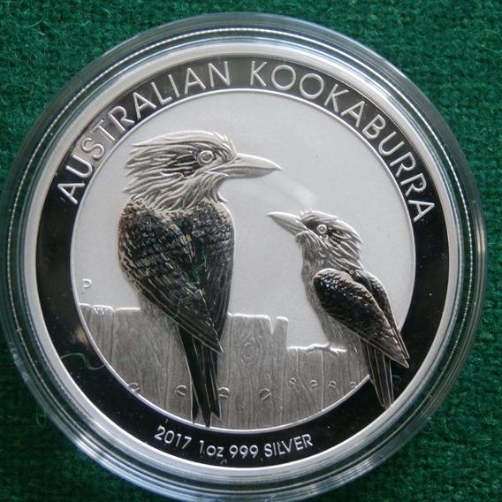 2017 1 Oz Kookaburra Australia Proof Espejo