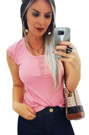 Blusinha Manguinha Decote Ilhos Cordão Moda Blogueira Curto