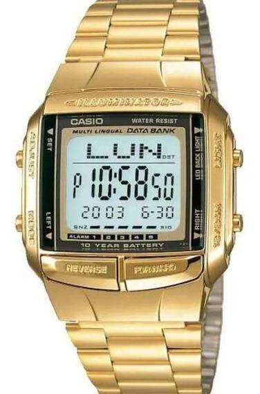 Relógio Casio Original Illuminator Dourado Db-360g +frete Nf