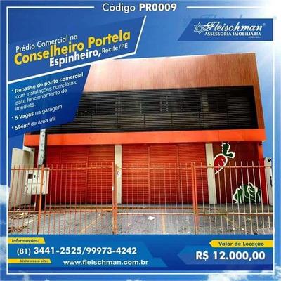Prédio Comercial Para Locação, Espinheiro, Recife - Pr0009. - Pr0009