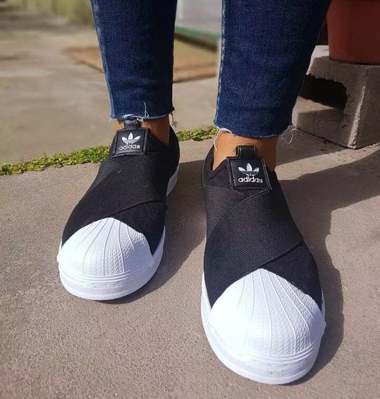 Zapatillas Urban Mujer Snaker Elastico Cruzadas Slip Envios