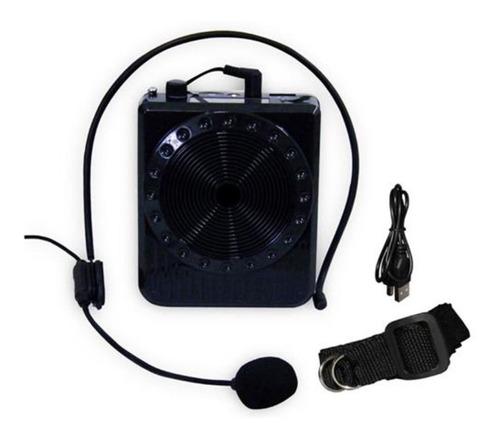 Amplificador Voz Megafone Microfone Kit Professor Radio 5w
