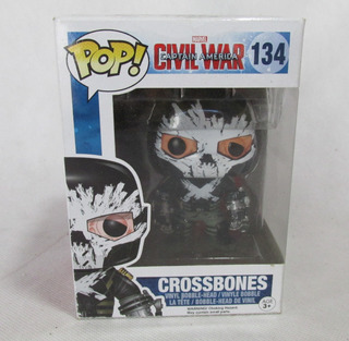 Muñeco Pop Crossbones Marvel Civil War Funco #l