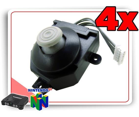 Kit 4 Analogicos Para Controle Nintendo 64 Estilo Gamecube