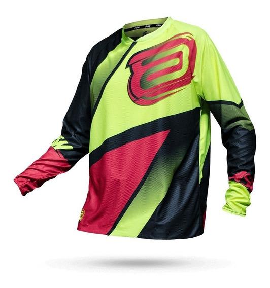 Camisa Asw Image Discover 18 Vermelho Fluor Motocross Trilha