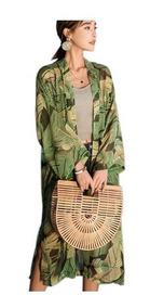Maxi Cardigan Kimono Longo Roupas Femininas Saida Praia