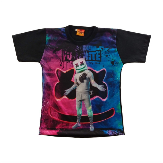 Remera Niño Marshmello Fortnite Dj