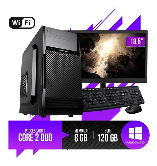 Pc Completo Intel Core 2 Duo, 8gb Ram Ddr3, Hd Ssd 120gb