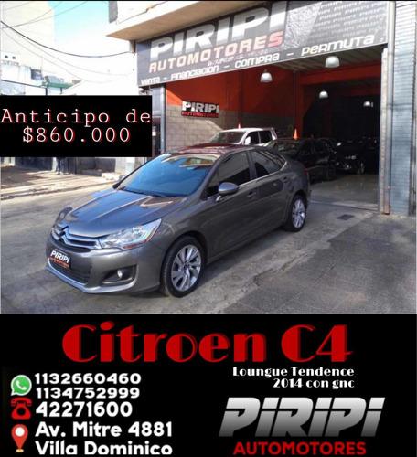 Imagen 1 de 14 de Citroën C4 Lounge 2014 2.0 Tendance, $860.000 Y Ctas Con Dni