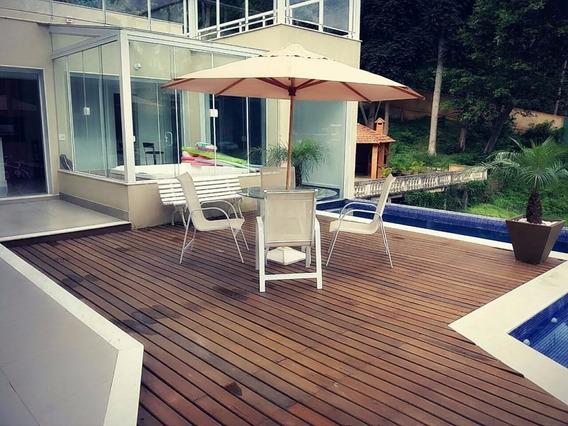 4 Cadeiras + 1 Mesa Com Vidro + 1 Ombrelone Com Base