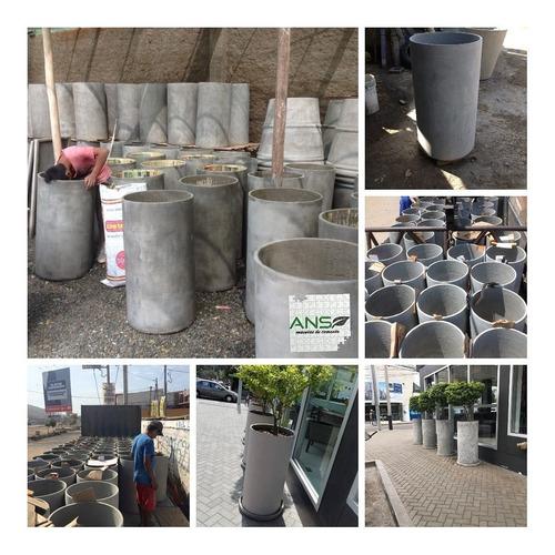 Maceta De Cemento (cilindrica)