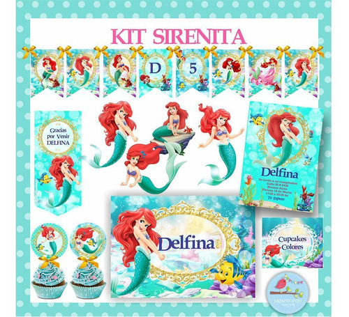 Kit  Sirenita Ariel