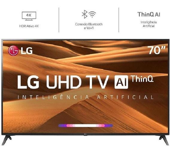 Smart Tv 4k Led 70 LG, Wi-fi, Inteligência Artificial, Cont