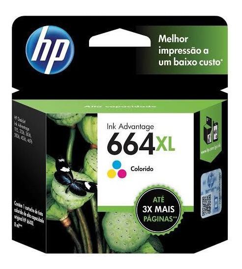 Cartucho Hp 664 Xl Colorido F6v30ab