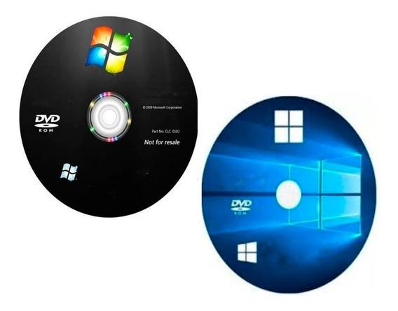 Cd Para Formatação/instalaçã Wind©ws 7 + 10 + Drive E Office