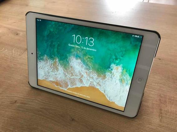 Baixou! iPad Mini 2 Prata 32gb - Estado De Novo + Acessorios