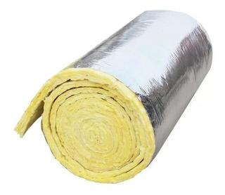 Lana De Vidrio Con Papel Aluminio 50 Mm 1.2m X 18m