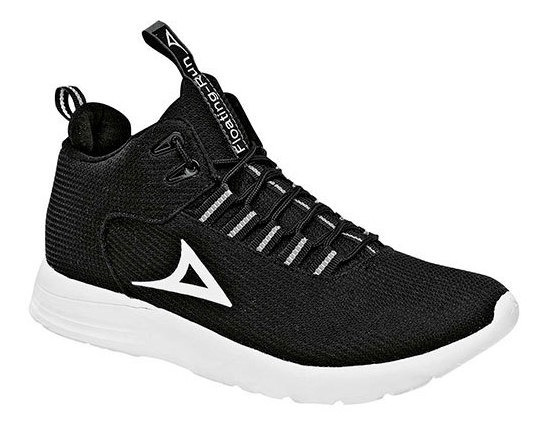 Sneaker Primaria Negro Geometrico 62562dtt Textil Niño