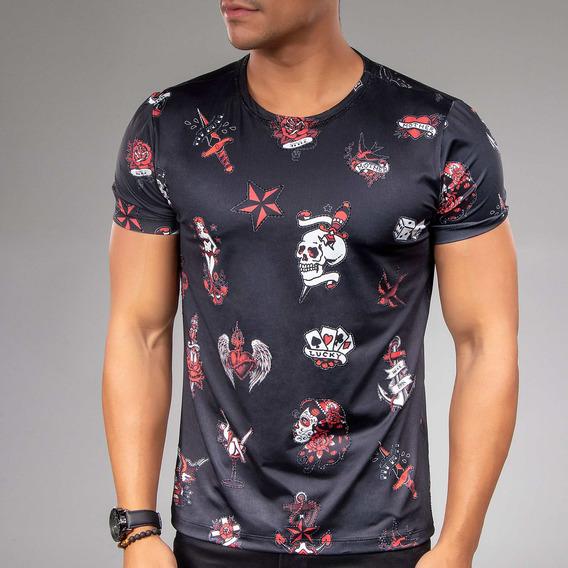 Camiseta Masculina Pit Bull Jeans Gola O 32764