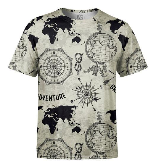 Camiseta Masculina Expansão Marítima Estampa Digital