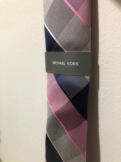 Corbata Michael Kors Azul Y Rosa Colección 2020