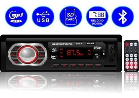 Rádio Fm Mp3 Com Bluetooth 1782bt - Winner Com Controle