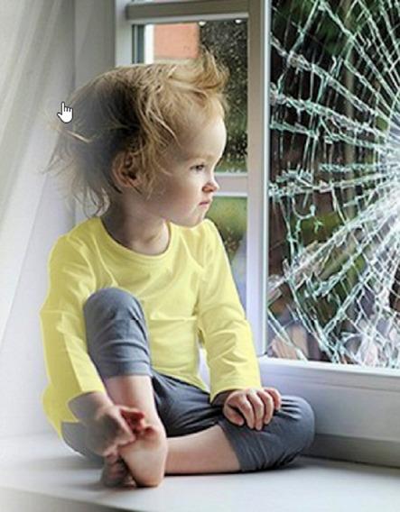 Film De Seguridad, Vidrios Seguros, Protección Niños / Robo