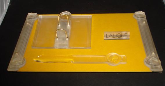 Rdf01330 - Cristal Lalique Jogo Escritório Josephine Déc 50