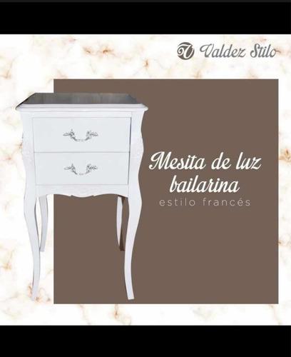 Mesita De Luz Estilo Francés Bailarina