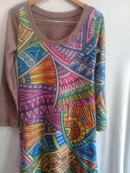 Vestido Corto De Lanilla