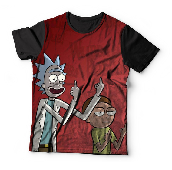 Camiseta Baby Look Full Print Rick And Morthy Serie