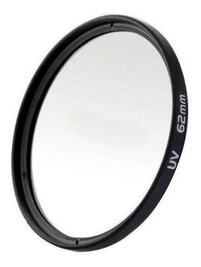Filtro Uv Ultravioleta Protetor Para Lentes Câmeras Fotográficas 62mm Canon, Nikon, Sony, Fuji, Etc. Universal