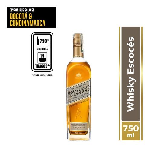 Whisky Johnnie Walker Gold Reserve 750 - mL a $240
