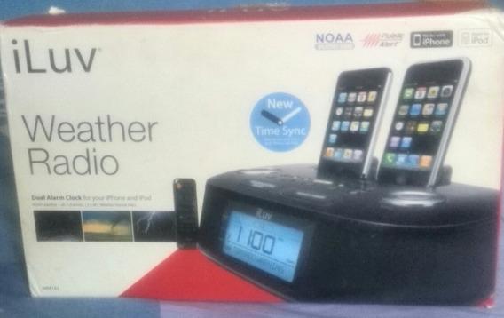 Sistema De Sonido Iluv, iPod iPhone Tlf Alarma Reloj Radio