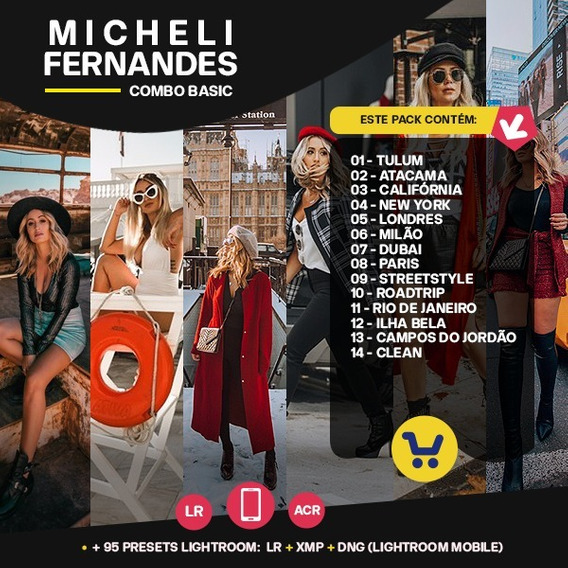Micheli Fernandes - 14 Packs Preset Lightroom + Acr + Mobile
