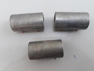 Lote Com 3 Luva Com Rosca De Alumínio Galvanizado 3/4