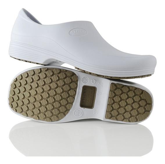 Calçado Para Cozinha Antiderrapante Stick Shoes Man Branco