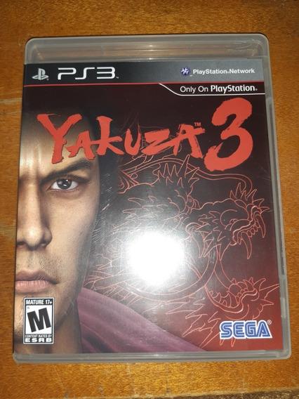 Yakuza 3 Ps3 Original Mídia Física Com Manual