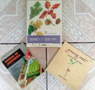 3 Libros De Jardinería, Árboles Y Semillas.
