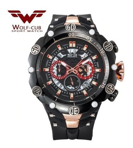 Relógio Masculino Lobo-cub Estilo Militar A Prova D