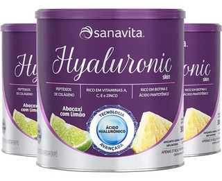 Kit 3 Hyaluronic Ácido Hialurônico Skin Sanavita Abacaxi 270