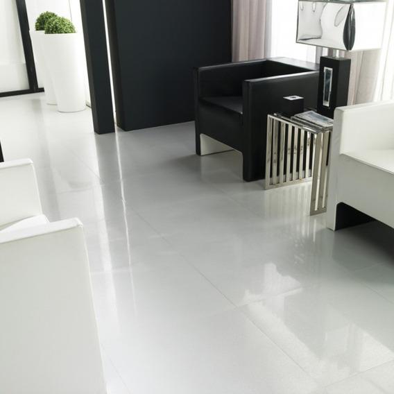 Porcelanato Blanco Pulido San Lorenzo White 60x60 Rectifica
