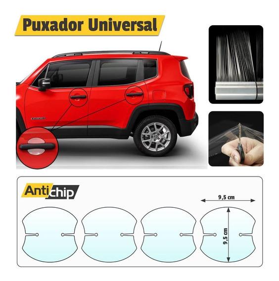 Kit 4 Películas Protetoras De Maçaneta / Puxador Carro / Veículo Protege A Pintura Contra Riscos - Antichip