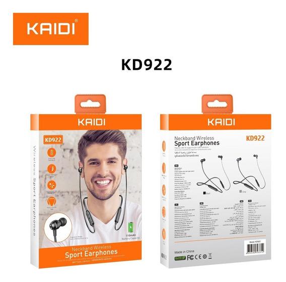Fone Sport Earphone Neckband Wireless Kaidi Kd922 Sem Fio