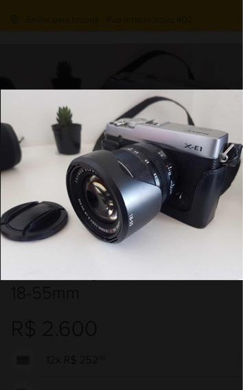 Câmera Fujifilm X-e1 + Lente 18- 55 Mm