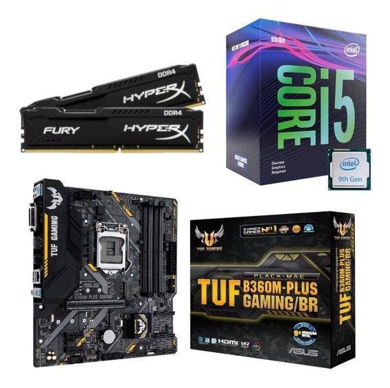 Kit Intel I5 9400f + Tuf B360m Plus Gaming + Hx 16gb 2400