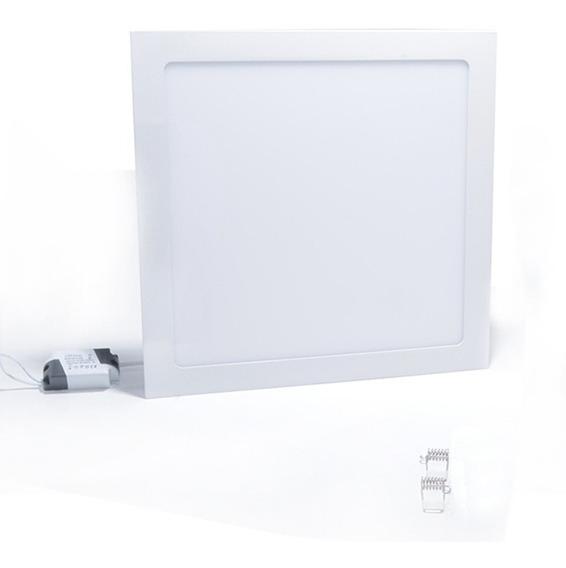 Plafon 25w Quadrado Embutir Painel Led Luminaria 3000k