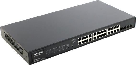 Switch Tp-link 24 Portas Gigabit Poe+ T1600g-28ps Tl-sg2424p